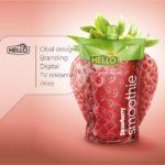 Obal design a logo pro Hello smoothie
